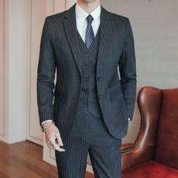 men s luxury striped double brested suit