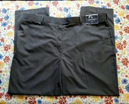 STAFFORD MEN'S MID GRAY BIG & TALL FIT YEAR AROUND SUIT PANT