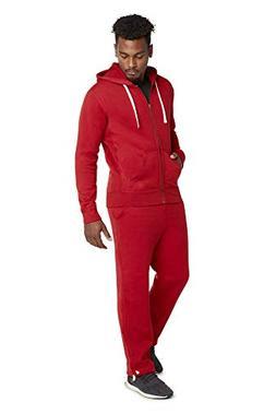 9 Crowns Men's Mid-Weight Fleece Modern Fit Sweat Suit Hoodi