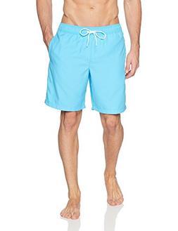 """Amazon Essentials Men's Quick-Dry Solid 9"""" Swim Trunk, Aqua,"""