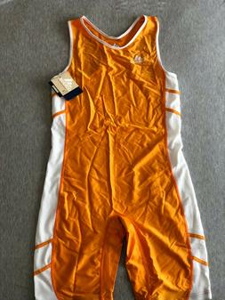 Men's Adidas running speed suit orange size XL