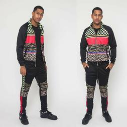 Men's Savage  Jogging Track Suits 2 Piece Sweatsuit Pants&Ja