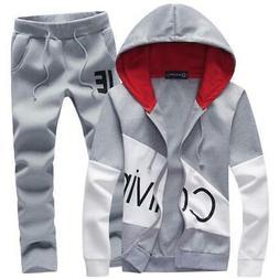 Men's set letter sportswear sweatsuit male sweat track suit