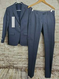 Calvin Klein Men's Skinny Fit Stretch Suit Denim Blue 36 Sho