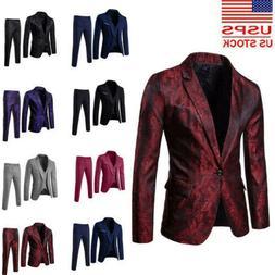 Business Men's Suit Slim 2 Or 3-Piece Suit Blazer Wedding