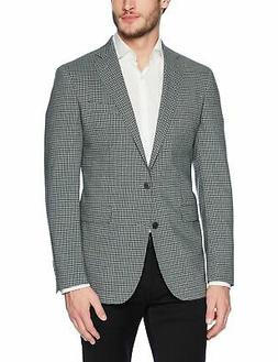 Cole Haan Men's Slim Fit Blazer Check Grey/Teal 40 Short