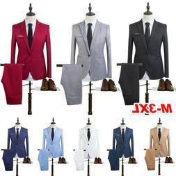 Men's Slim Fit Formal Business Tuxedos Blazer Coat and Pants