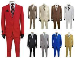 men s slim fit formal business wedding