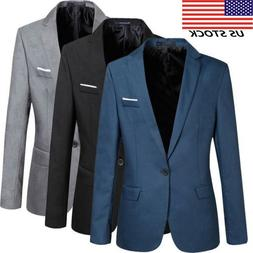 Men's Slim Fit Formal Suit Blazer Business Coat Jacket New C