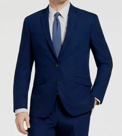 Kenneth Cole Reaction Men's Slim-Fit Modern Blue Solid Dress