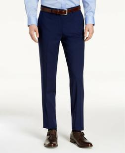 Cole Haan Men's Slim-Fit Stretch Solid Suit Dress Pants Blue