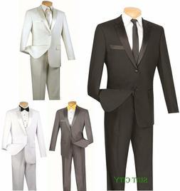 Men's SLIM Fit Tuxedo Prom Wedding Groom Suit Single Breaste