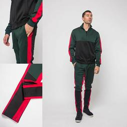 Men's Sports Track Pants & Jacket Tri-Colored Track Suit Set