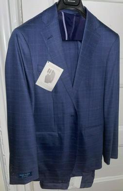 Cole Haan Men's Stretch Slim Fit 2 Piece Suit - Blue Windowp