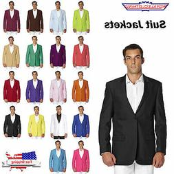 CONCITOR Men's Suit Jacket Separate Blazer Coat Tux Solid Co