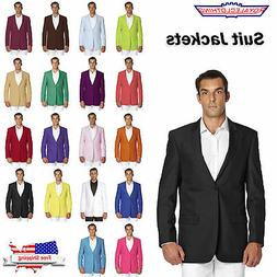 CONCITOR Men's Suit Jacket Separate Blazer Coat Tux Solid Co