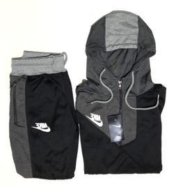 Nike Men's Sweat Suit Brand New Gray Full Zip Hoodie + Jogge
