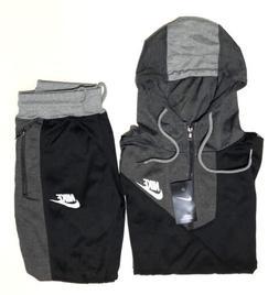 8420754410 Nike Men s Sweat Suit Brand New Gray Full Zip Hoodie + Jogge