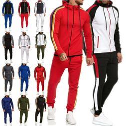 Men's Tracksuit Set Hoodie Sweatshirt Jacket Zip Coat Joggin