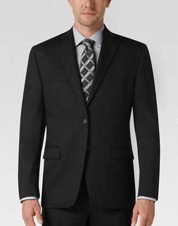 J. M. Haggar Men's Two Button Black Sport Coat Blazer Suits