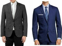 Saddlebred Men's Two Button Blue Gray Sport Coat Blazer Suit