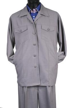 Men's walking suit 2 piece with Wide leg Pant wool Blend wit