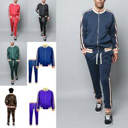 Men's Workout Sports Jogger Track Pants & Jacket Track Suit