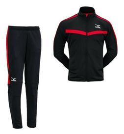 Mizuno Men Slim-Fit Full-Zip Suit Set Black Soccer Jacket Pa