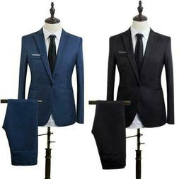 mens 2 pc suit formal business wedding