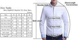 Alex Vando Mens Big & Tall Dress Shirts Regular Fit Long Sle