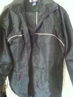 Mens Black ERONA Track Suit Pants and Jacket Zip up Hoodie w