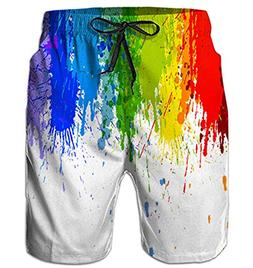 Belovecol Mens Board Shorts Quick Dry 3D Print Graphic Color