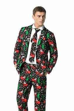 Mens Christmas Bachelor Party Suit Funny Novelty Xmas Jacket