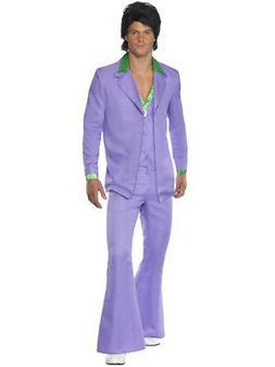 Mens Classic 70s Lavender Pimp Groovy Disco Dude Suit Costum