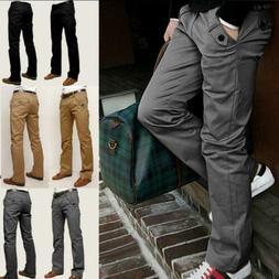 Mens Designer Chinos Stretch Skinny Slim Fit Jeans All Waist