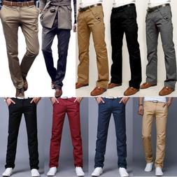Mens Designer Trousers Chinos Stretch Skinny Slim Fit Jeans