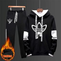 Mens Fits Adidas Joggers Tracksuit Hoodie & Pants Set Sports