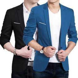 Mens Formal Suit Blazer Coat Jacket Slim Long Sleeve Busines