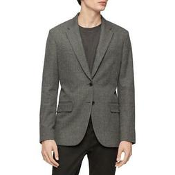 Calvin Klein Mens Gray Checkered Suit Separate Sportcoat Jac