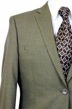 Paolo Giardini Mens Poly Suit Jacket and Pant 2 Button Flat