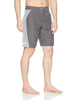 Under Armour Mens Rigid Boardshorts, Graphite /Elemental, 38