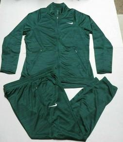 NIKE MENS SIZE XL TEAM PLAYER STAFF WARMUP 2 PIECE SUIT Gree