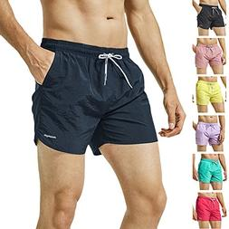 MaaMgic Mens Slim Fit Shorts Quick Dry Swim Trunks with Mesh