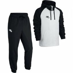 Mens Nike Sportswear Track Suit 861772-011 Black/White Brand