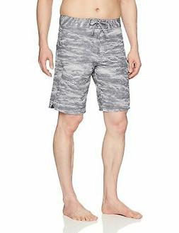 Under Armour Mens Stretch Printed Boardshorts, Gra - Choose