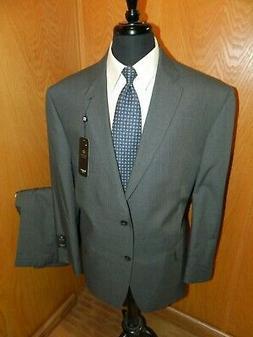 Haggar  Mens Suit  48r 40 X 30 Poly Viscose blend Gray P.S.