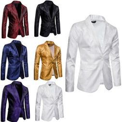Mens Suit Coat Fashion Slim Formal Business One Button Blaze