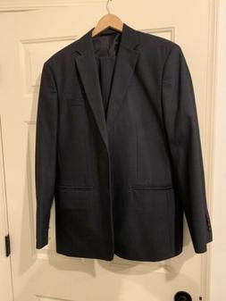 Perry Ellis Mens Suit Dark Grey Brand New Classic Fit 42R.