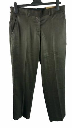 Mens Dockers Suit Pants Size 44x30 Flat Front Brown Polyeste