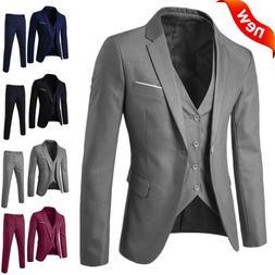 Men's Suit Slim 3-Piece Suit Blazer Business Wedding Party